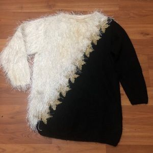 Cozy Long half Eyelash half Knitted Sweater | Sz M
